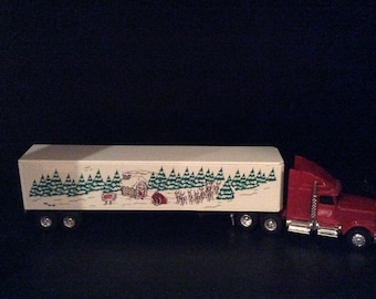 Santa's Express Semi Truck & Trailer made in USA 1:64 scale