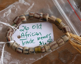 Old African Trade Bead Lot 26 Beads