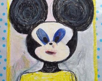 Drawing Mickey A3 fatty pastel