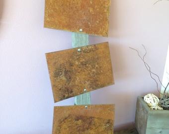 Barn Wood and Rust Art, Wall Hanging, Decor, Ladder