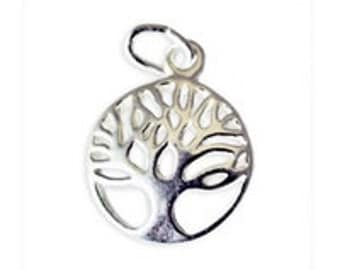 Sterling Silver Tree of Life Charm Pendant