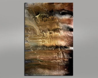 Giclee Abstract Fine Art Print - brown beige - abstract - 48x32