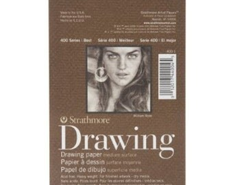 Strathmore Spiral 4 by 6-Inch Drawing Paper Pad, Medium, 24 Sheets (Pack of 2)
