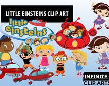 16 Little Einsteins Cartoon Clip art - Printable Digital Clipart Graphic Instant Download Clip Art Scrapbook Invitations printable 300 dpi
