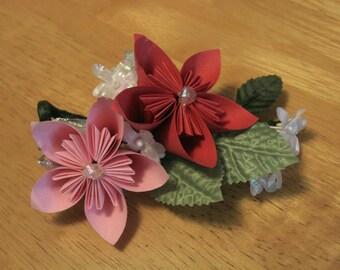 Paper Flower Kusudama Origami Boutonniere