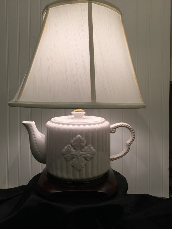 Teapot lamp 001 by roscoestophattery on etsy home decor for Best home decor on etsy
