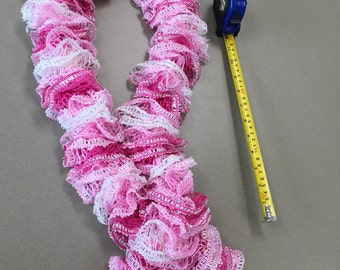 Shades of pink ruffle scarf