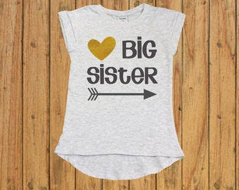 big sister announcement shirt. Glitter Big Sister Shirt. Big Sister Gift. big sister little sis. only child expire shirt. baby shower gift