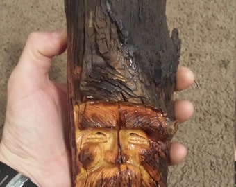 Large pine knot carving