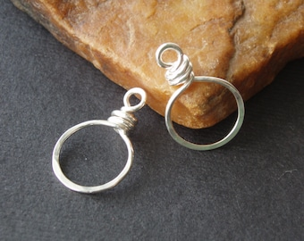 Silver connector finding / silver link / figure 8 link /shiny silver