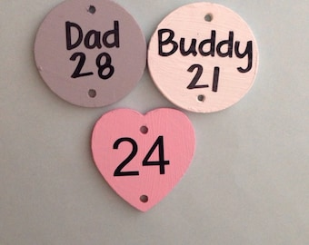 Personalized birthday tags