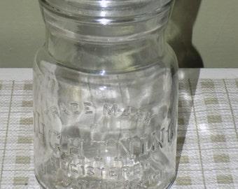 Vintage Trademark Lightning Canning Jar with Lid