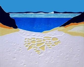 Carlo Sand Blow (Collagraph)