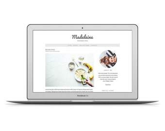 "50% OFF - Wordpress Theme ""Madeleine"" - Food Wordpress Theme - Premade Template for Food Blogger"