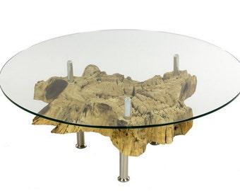 Picassi sofa table teak root 100x100cm