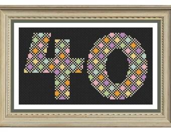 40 cross stitch pattern downloadable pdf