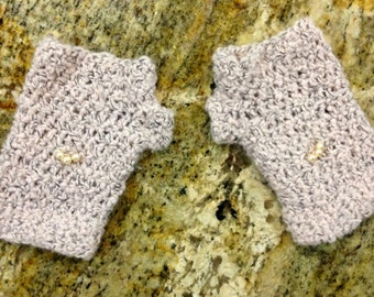 Crochet Pink Fingerless Gloves