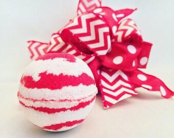 Christmas Bath Bomb Peppermint Bath Bomb Christmas Gifts Stocking Stuffer