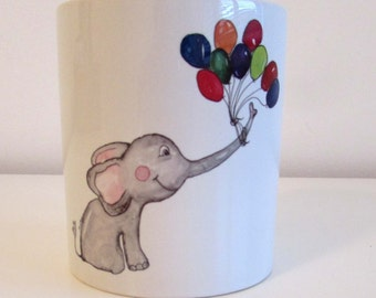 Cup with elephant print