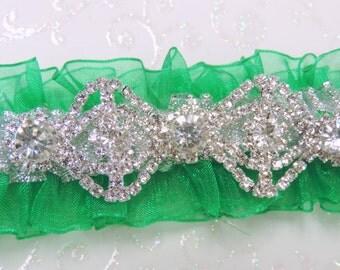 Emerald Green Prom Garter,  Prom Garters,  Custom Color Prom Garter