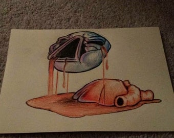 Hand drawn Mask of infamy from the binding of isaac