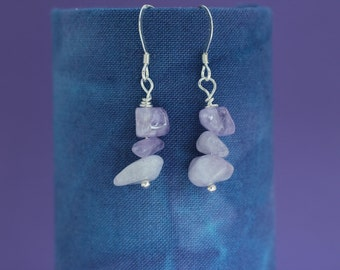 Lilac Amethyst Earrings, Gemstone Earrings, February Birthstone, Made to Order,Bridal Earrings, Bridesmaid Gift, Gift for Mum, Gift for Wife