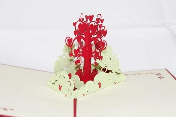 3D Love Heart Tree, Pop Up Birthday Card, Pop Up Card,