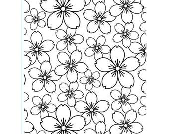 Cherry Blossom Embossing Folder - Cherry Embossing folder - Card Embossing - Cherry Bloom Embossing Folder - Cherry Blossom Emboss Folder