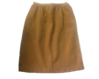 Vintage Haberdashery Collection Brown Wool Skirt, size 12