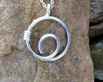 Zen Aluminum Nautilus Necklace