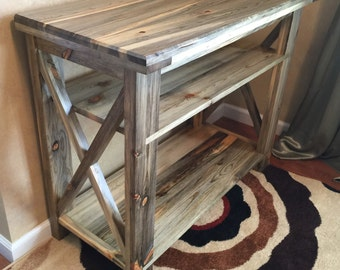 Rustic Industrial Entryway Console Table, Sofa Table, Foyer Table, Computer Table, Printer/Modem Table, Solid Wood
