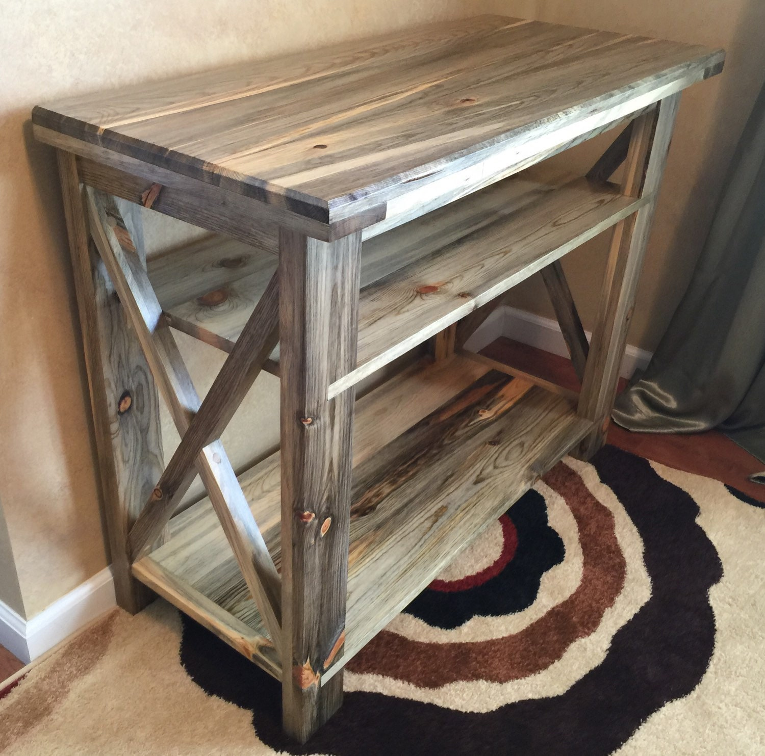 Foyer Console : Rustic industrial entryway console table sofa foyer