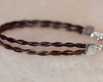 Double braid horse hair bracelet