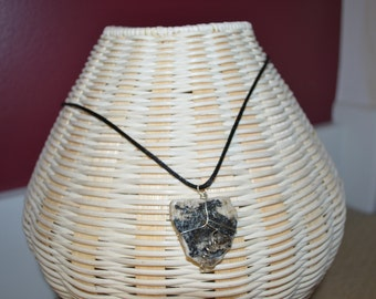 Lake Champlain Stone Wire Wrapped Necklace