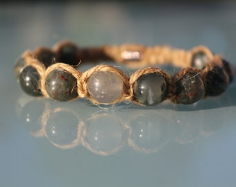 Jewel lithotherapy bracelet 'Anchor and Courage'