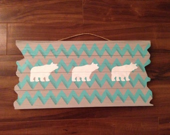 Chevron Bear Wall Hanging