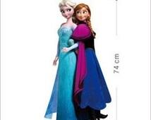 Elsa and Anna Wall Decal; Anna; Elsa; Anna Elsa Wall Decal; Elsa; Elsa Wall Decal; Frozen; Frozen Wall Decal; Frozen Wall Stickers;