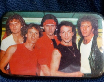 1985 LOVERBOY Collectors pin button Canadian Rock
