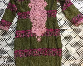 African print high waisted  maxi skirt