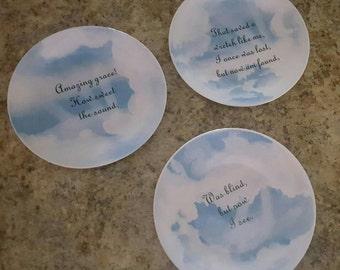 SALE Vintage amazing grace plates
