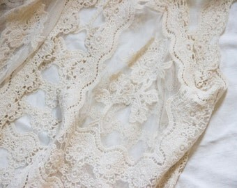 Bohemian Parisian French Lace Vest, Imported from Montmartre