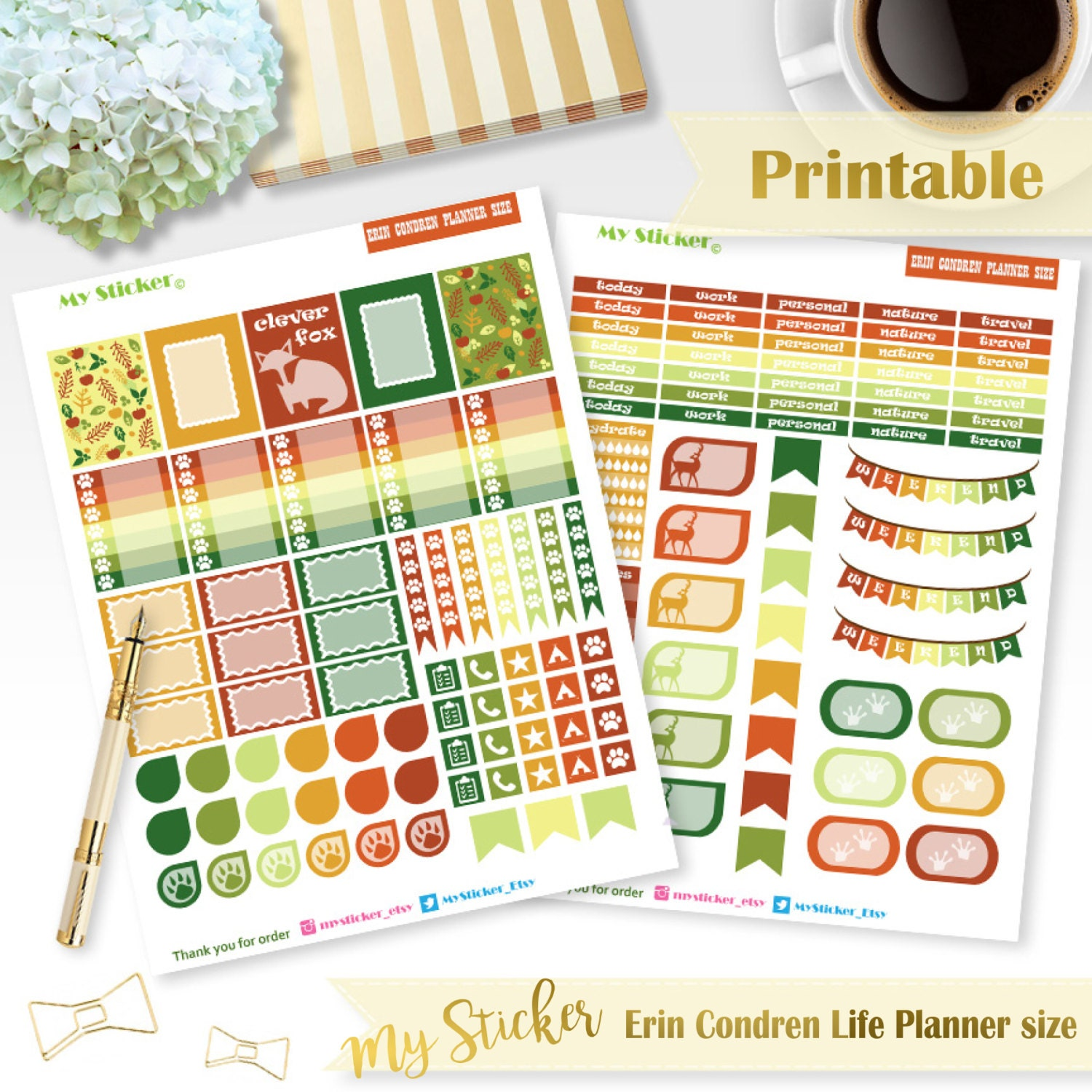 It's just a graphic of Old Fashioned Erin Condren Printable Stickers