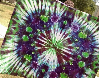 Green and Pruple Tapestry