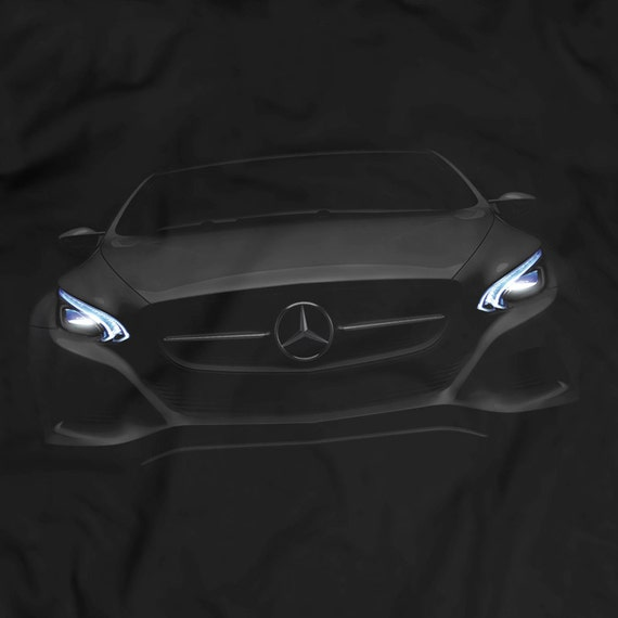 Mercedes benz amg gt s headlights glow t shirt women by for Mercedes benz glowing star