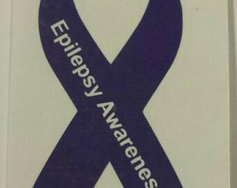 Epilepsy Awareness Vinyl Decal - Help Harley get her seizure monitor!