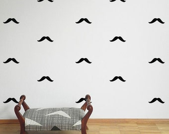 Mustache wall stickers - Moustache - Wall stickers - Set of 26