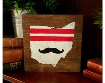 Cincinnati Reds wood sign or trivet