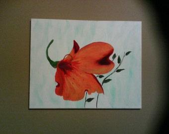 Big Orange Flower Painting