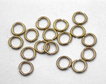500 pcs 5mm Gold Jump Ring | Gold Jump Ring, 5mm Gold Jumpring, 5mm Jump Ring, Open Jump Ring, Brass Jump Ring