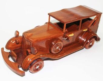 Duesenberg Car 1932-1934 - Wooden car handmade
